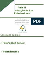 Aula_11 - Polarizacao Da Luz_Polarizadores
