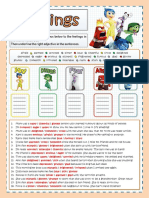 Inside Out Feelings Worksheet Key