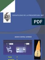 Versatilidad de la prescripción MBT