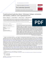 Transformational Leadership Climate - Performance Linkages, Mechanisms, And Boundary Conditions at the Org Level - LHE LQ 2011 - JOCHEN I. MENGES Et Al.