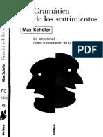 Scheler, Max - Gramática de Los Sentimientos