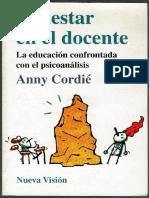 LIBRO...Malestar en El Docente. Anny Cordie