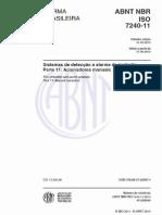 NBR ISO 7240-11 - Acionadores Manuais