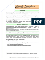 Programa Educativo Personalizado Aprender a Aprender PDF