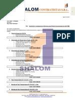 COT. N° 124. Suministro e Instalaciones Electricas de Equipos para Planta de 350 TMD. CIA AGROMIN SAC. Abril 18