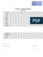 Jadwal Audit Internal