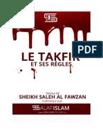 Le Takfir Et Ses Regles Al Fawzan