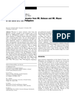 McDermott, Et Al. 2004. the Petrogenesis of Volcanics From Mt. Bulusan and Mt. Mayon in the Bicol Arc, The Philippines
