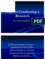 Steps in Conducting a Research