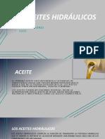 LOS ACEITES Hidráulicos