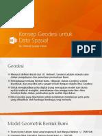 04 - Konsep Geodesi Untuk Data Spasial