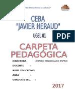 Carpeta Pedagógica Javier Heraud 2017