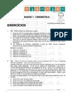 Caderno de Exercicios Cinematica