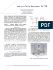 Duplexer Based on a Cavity Resonators for PSR