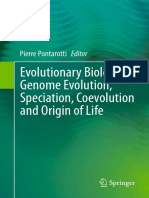 Pierre Pontarotti Eds. Evolutionary Biology Genome Evolution, Speciation, Coevolution and Origin of Life