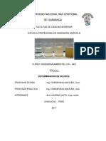 Informe de Determinacion de Solidos en El Agua