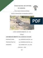 Contaminacion Ambiental en Ayacucho