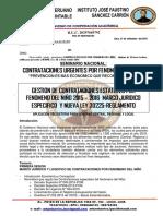 Contrataciones Por Fenomeno Del Niño 2015 y 2016 Octubre