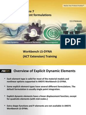 L07 ANSYS WB LS-DYNA - Element Formulations | Beam
