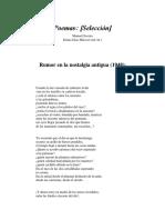 Poemas Selección Manuel Scorza