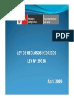 Presentacion Ley de Recursos Hidricos ANA