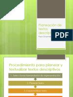 Planeación de Textos Descriptivos