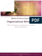 Other Discipline's Contribution to Organisational Behaviour