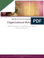 Other Discipline's Contribution to Organisational Behaviour