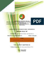 Practica de Petrografía 2 Textura-estructura