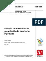 1 Diseño de sistemas de alcantarillado Sanitario y Fluvial (Bolivia).pdf
