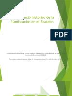 Contexto Histórico de La Planificación en El Ecuador