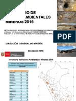 Inventario de Pasivos Ambientales Mineros 2016