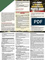 A Call to Enlist in Kingdom Advancement Prayer Army