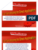 Lean Manufacturing for Direct Application