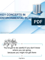 key concepts in environmental planning