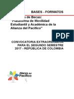 Bases 9 Convocatoria Extraordinaria Formatos Colombia
