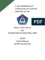 SOLUSI Soal Tantangan Dan OSN Matematika Ptatinum Kls 8