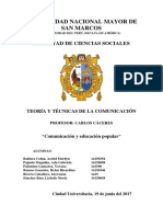 Trabajo Final de Comunicacion y Educacion Popular