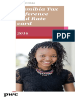 Namibia Tax Reference and Rate Card 2016