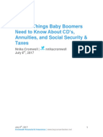 TOP 10 Things Baby Boomers Need to Know About CD's, Annuities, And Social Security & Taxes