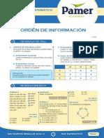 PAMER -- RAZONAMIENTO MATEMÁTICO -- ORDEN DE INFORMACION