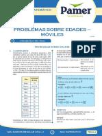 PAMER -- RAZONAMIENTO MATEMÁTICO - PROBLEMAS SOBRE EDADES - MOVILES