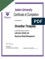 Shreedhar Laboratory Safety and Hazardous Waste Management