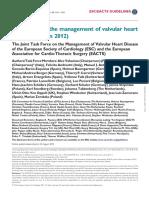 VHD ESC Guideline 2012