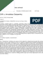 CIR v. Arnoldus Carpentry – CARRY On