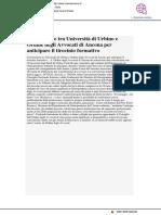 Convenzione tra Università di Urbino e Ordine degli Avvocati per anticipare il tirocinio formativo - Vivere Ancona.it, 10 luglio 2017