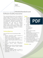 SQ001 DCO Software Quality Models