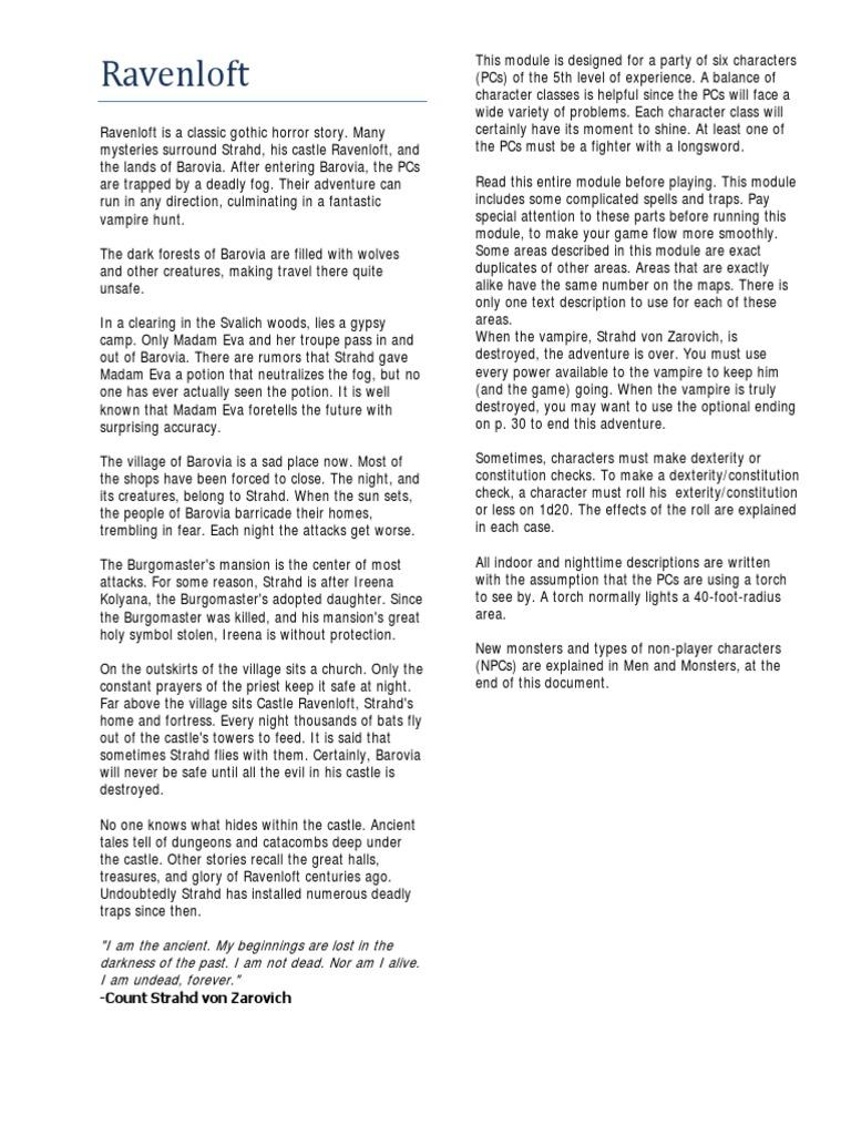 I6 - Ravenloft 5e v1 0 pdf | Leisure