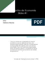 1 - Economía y Escasez