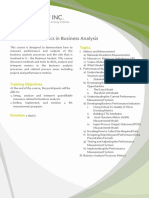 BA011 DCO Performance Metrics in Business Analysis